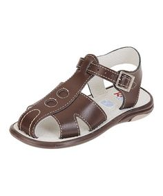 This Brown Leather Sandal is perfect! #zulilyfinds
