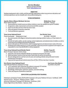 resume criteria