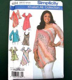 2006 Simplicity Pattern #4164 Khaliah Ali Collection Plus Size Tunic Uncut #Simplicity #PulloverTunic