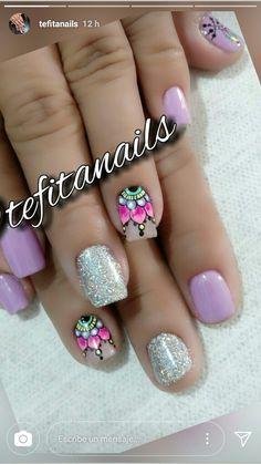 Purple Nail Polish, Purple Nails, Toe Nail Art, Toe Nails, Iris Nails, Mandala Nails, Nails 2016, Different Nail Designs, Bright Nails