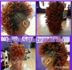 New crochet hair styles curls mohawk ideas Mohawk Styles, Curl Styles, Braid Styles, Curly Hair Styles, Natural Hair Styles, Braided Mohawk Hairstyles, African Braids Hairstyles, Girl Hairstyles, Wedding Hairstyles