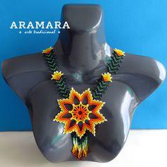 Collar mexicana Huichol Star collar y pendientes por Aramara