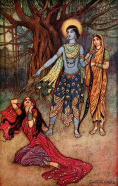 Rama spurns the Demon Lover - Warwick Goble, Indian Myth and Legend