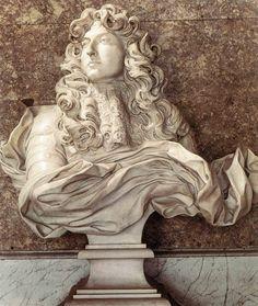 Gianlorenzo Bernini, Bust of Louis XIV, 1665, Château de Versailles, Salon of Diana , portraits louis xiv