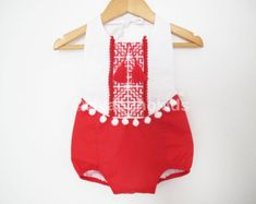 Items similar to Red and white Baby Girl Romper/Boho romper/ First birthday/ Baby Clothes/ Photo Shoot/ Size: month, on Etsy First Birthday Photos, First Birthday Outfits, Baby Birthday, Boho Romper, Red Romper, Short Bebe, Knitted Romper, Baby Girl Romper, Boho Baby