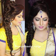 Mehndi bride, makeup by honey's beauty lounge