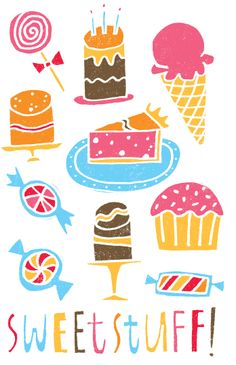 Food illustration - artist study , How to Draw Food, Artist Study Resources for… Pattern Illustration, Illustration Artists, Food Illustrations, Graphic Design Illustration, Tea Illustration, Illustrated Words, Art Folder, Food Patterns, Food Drawing