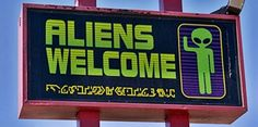 Find images and videos about grunge, alien and welcome on We Heart It - the app to get lost in what you love. Mathilda Lando, Welcome Images, Alien Aesthetic, Space Grunge, Aliens And Ufos, Flying Saucer, Kawaii, Geek Out, Starry Eyed