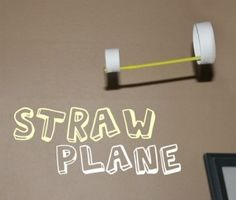 """straw planes-we made this for our Kindergarten """"Science Fest"""" day this year and the kids loved them!  Super easy, super fast, and super fun!"""