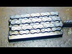 Damascus from the entire process chain (knives) - YouTube