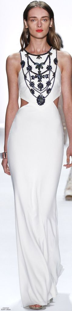 Another Olivia Pope signature look.   Badgley Mischka Spring 2016 RTW