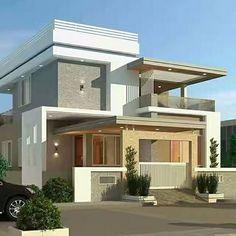 Home Architecture Design Impressive Ideas – DIY Motivations Best Modern House Design, Modern Exterior House Designs, Bungalow House Design, Exterior Design, House Outside Design, House Front Design, House Architecture Styles, Architecture Design, Model House Plan