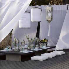 Sunken outdoor dining