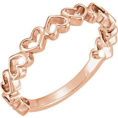 14kt Rose Heart Ring #getitatOakRidgeJewelers