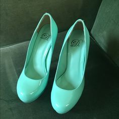 Final Price Aqua blue platform stilettos Aqua blue platform stilettos. Only worn once! EUC! Shoes Heels