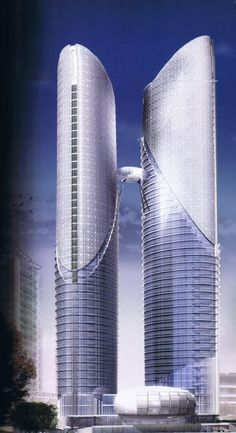 Sahid Perdana Twin Towers, Jakarta, Indonesia by A.D. Tardiyana Architects :: 45 and 50 floors, height 227m
