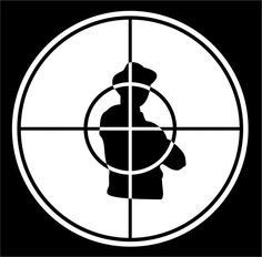 Public Enemy's band logo was designed by Chuck D back in 1986.  Another hip-hop gem in our list, the logo was tightened up ahead of the release of 'Yo! Bum Rush The Show' in 1987 by New York artist Eric Haze.   Many claim the target to be a state trooper but it is infact a silhouette of a B-boy.