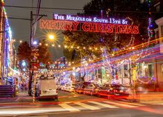 The Miracle on South Street in Philadelphia, Pennsylvania, is an amazing and festive Christmas spot in the city. Find out more about this South Philly tradition. Christmas Events, Christmas Town, Merry Christmas, Holiday Lights, Christmas Lights, Philadelphia Tours, Christmas Things To Do, Christmas Destinations, South Philly