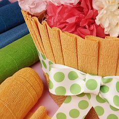 Use this crepe paper for your floral DIY! Crepe paper is perfect for crafts. [ PaperMart.com ]