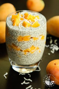 Fresh Mango Coconut Chia Seed Parfait! This dessert is quick, healthy, and perfect to whip up for dessert for any night of the week or even for larger parties!