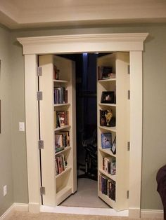 Trendy Home Office Closet Ideas Pantries Home Office Closet, Basement Office, Basement Storage, Basement Stairs, Basement Flooring, Rustic Basement, Basement Makeover, Basement Bedrooms Ideas, Kitchen Storage