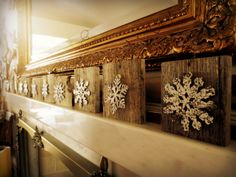 Snowflake Ornaments Easy DIY | Wood Christmas Ornaments