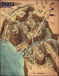 Fantasy City Map, Fantasy World Map, Fantasy Places, Dungeons And Dragons Homebrew, D&d Dungeons And Dragons, Map Pictures, Rpg Map, Map Layout, Dungeon Maps