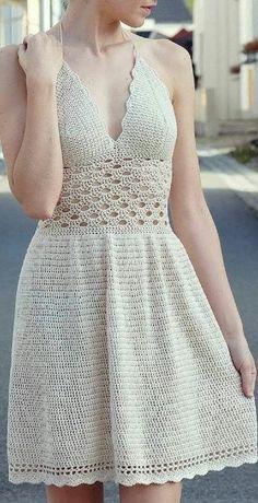 Super crochet skirt pattern free for women summer dresses Ideas Crochet Summer Dresses, Crochet Lace Dress, Crochet Fabric, Summer Dresses For Women, Knit Dress, Crochet Top, Crochet Baby, Crochet Skirts, Easter Crochet