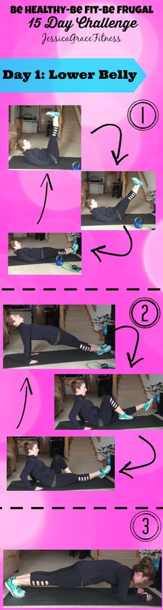 DAY 1 Fit- Today's workout addresses HOW to get rid of that stubborn lower belly pooch! Click on the image to view the FULL details on each move now :) Make sure to REPIN if you are IN! And comment below once you do this and tell me how you did! OH! And make sure you check out the FRUGAL and HEALTHY Pin for day 1 too!