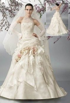 European Bridal Gowns Style Exquisite Lace Top Ball Gown Wedding