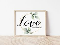 Love Lives Here PRINTABLE Wall Art Farmhouse Decor Home | Etsy Wedding Gifts For Groomsmen, Groomsman Gifts, Printing Services, Online Printing, Create Collage, Wedding Shower Gifts, Love Posters, Photo Center, International Paper Sizes