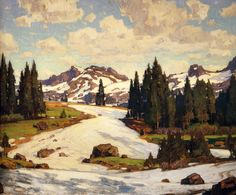 """""""Spring Landscape, Tioga Pass, California"""" by William Wendt"""