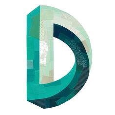D print — Darren Booth Illustration & Hand-Lettering Cool Typography, Typography Letters, Typography Logo, Graphic Design Typography, Lettering Design, Hand Lettering, Logo Branding, Logo Design, Web Design