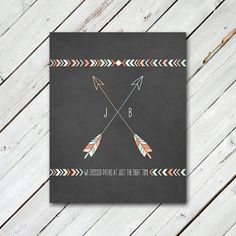 Shop for prints on Etsy, the place to express your creativity through the buying and selling of handmade and vintage goods. Archery Accessories, Arrow Print, Artsy Fartsy, Art For Kids, Tatting, Body Art, Tribal Arrows, Diy Projects, Couple Stuff