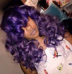 Purple curls.....xoxoxo