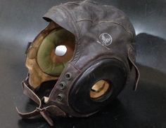 WWII Leather Flight Helmet A 11 US Air Force Pilot Aviation P 51 P 40 P 47 5V118 | eBay