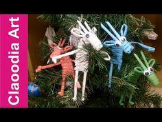 Renifer z papierowej wikliny (reindeer, wicker paper) - YouTube