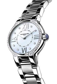 Or this Raymond Weil with diamonds and a sapphire on the end of the winder.