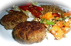 Diabetic Friendly Recipe: Brown Lentil and Vegetable Patties. This is a 100% diabetic safe meal, packed with protein and nutrition from the vegetables. As a fantastic bonus the taste is sensational. These patties are a great way to reduce or replace your meat intake. Click through to get the recipe. Enjoy the meal. You will love it.