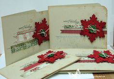 Pretty distressed snowflake cards