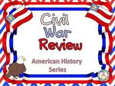 Civil War Review for 4th, 5th & 6th Grades  If you are looking for an interactive way to review the Civil War, this product is for you! Written on an upper elementary level, this is great for preparing for standardized tests, perfect for group work or excellent for individual center work.