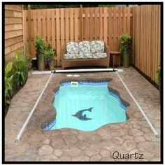 #swimmingpool plunge pool, infinity edge pool, indoor pool, deck flooring, poolside furniture, umbrella, recliner, mosaics