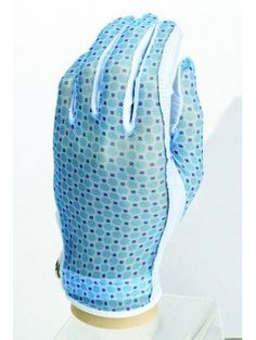 Ladies Golf Accessories : Evertan Designer Series Golf Glove-Blue Ice