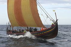 From the Roskilde Viking Ships Museuam.  In July Sea Stallion will sail out into the Danish summer on a three-week anniversary sailing