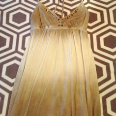 American Eagle studded dress Never Worn, American Eagle, studded v-neck, grey/white, cotton dress American Eagle Outfitters Dresses Mini