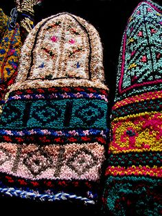 Handicrafts from Masouleh, Iran. Love the  Colors! photo by HORIZON  Masouleh is a village in the Gilan Provence of Iran, historical names for the village include Maasalar and Khortab, it was founded in the 10th century CE, and it's current population is estimated to be around 800 persons.