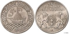 5 Gulden, Danziger Kogge, 1935 (A), vorzüglich-prägefrisch, neues Sachverständigengutachten Schobner beiliegend.  Dealer HBA  Auction Minimum Bid: 500.00 EUR