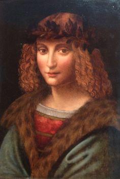 Leonardo da Vinci -Ritratto di Gian Giacomo Caprotti, detto Salaì, di anonimo, ca 1495, Vaduz, Fondazione Alois
