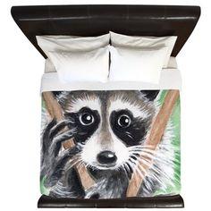 Raccoon Bandit King Duvet on CafePress.com