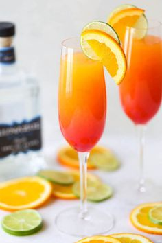 If you're out of champagne but still craving mimosas, substitute tequila and add a splash of grenadine for that beautiful sunrise color.  Get the recipe at Damn Delicious.
